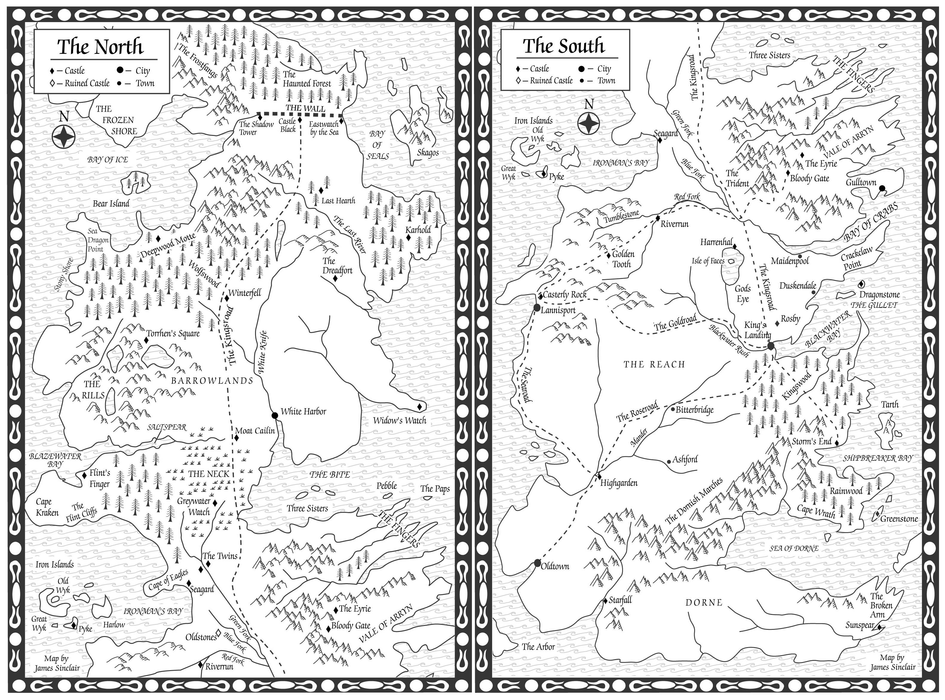 ACoK Original North Map
